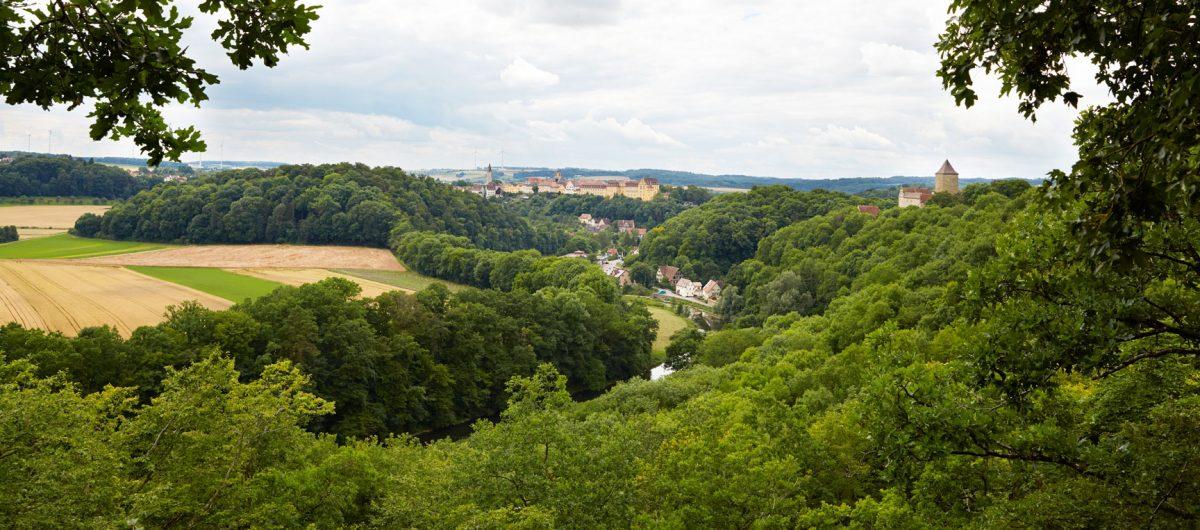 Ansicht von Krichberg mit Burg und Schloss